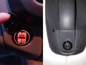 installation caméra de recul et USB